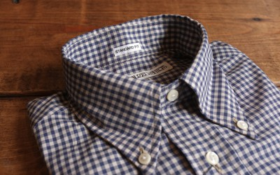 INDIVIDUALIZED SHIRTS   STANDARD FIT B.D SHIRTS Ecru Grund Gingham