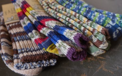 GRANGE CRAFT   FAIR ISLE SOCKS & HEATHER SOCKS
