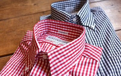 INDIVIDUALIZED SHIRTS   STANDARD FIT B.D SHIRTS Gingham Check