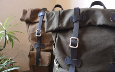 ARTS&CRAFTS   WAXWD CANVAS ROLL-TOP DAYPACK