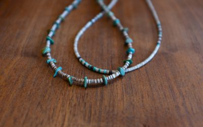 Colina Yazzie   Turquoise Nugget Necklace & Heishi Necklace