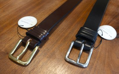 M.F.SADDLERY   1.25inch WEST END BUCKLE SADDLE LEATHER BELT