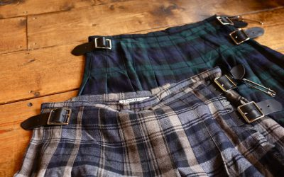 O'NEIL OF DOBLIN   WIDE&ALLOVER PLEATS KILT WITH WIDE BELT WASHED