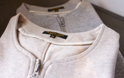A VONTADE   Crew Zip Sweat Cardigan & V-Neck Sweat Cardigan