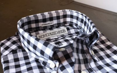 INDIVIDUALIZED SHIRTS   STANDARD FIT B.D S/S SHIRTS Big Gingham Check