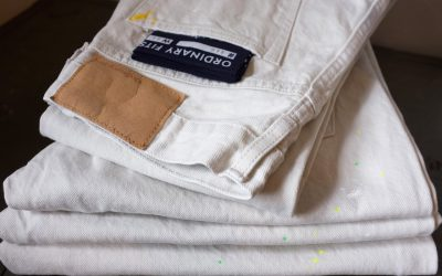 ORDINARY FITS   5POCKET ANKLE DENIM White used