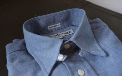 INDIVIDUALIZED SHIRTS   HERITAGE CHAMBRAY BUTTON TAB SHIRTS