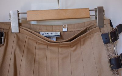 O'NEIL OF DOBLIN   LOW WAIST PLEATS WRAP SKIRT (WITH PIN)
