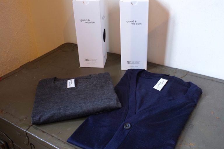 good&woolen   S/S POCKET TEE & BUTTON CARDIGAN