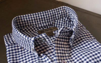 Nigel Cabourn   BRITISH OFFICER'S SHIRT (GINGHAM+PINPOINT OXFORD)