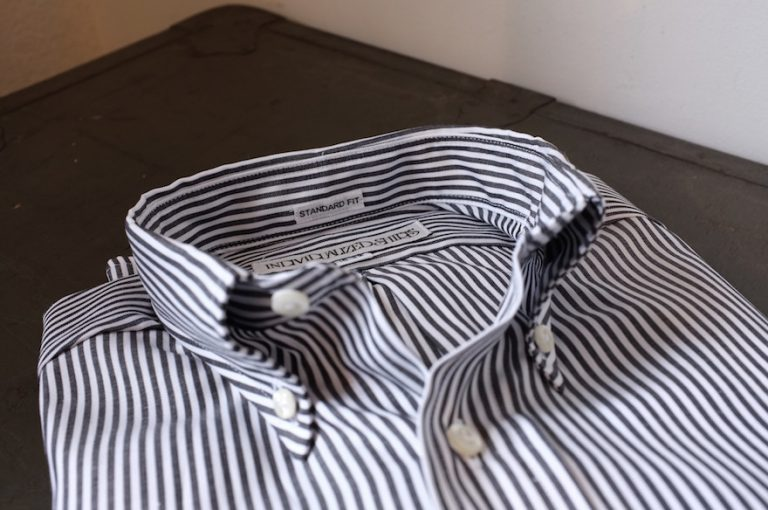 INDIVIDUALIZED SHIRTS   Standrad Fit Oxford Stripe