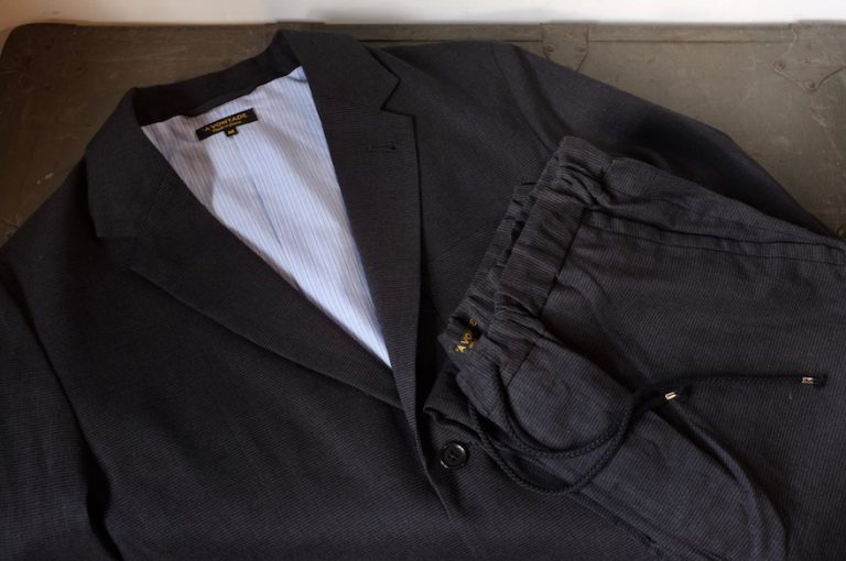 A VONTADE   Lounge Jacket & Slim Easy Slacks