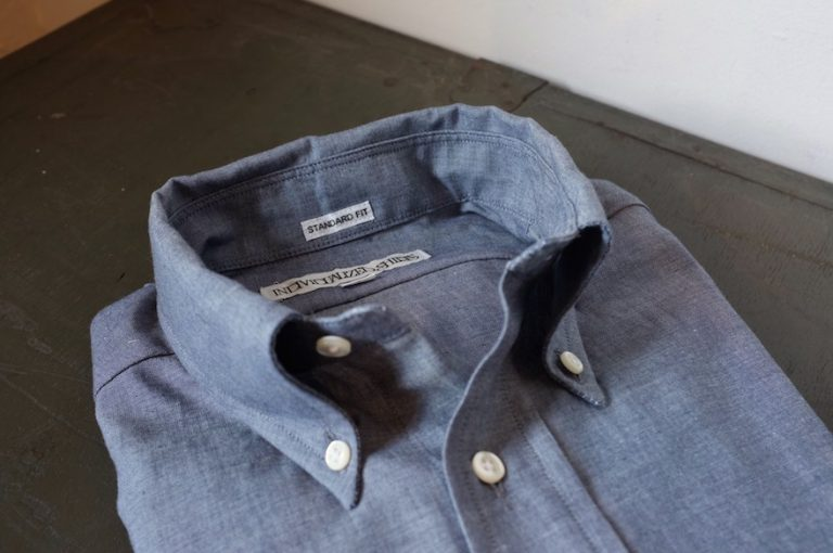 INDIVIDUALIZED SHIRTS   Indigo Chambray Standard Fit Button Down