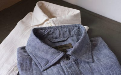 Nigel Cabourn   BRITISH OFFICERS SHIRT-LINEN OXFORD