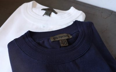 Nigel Cabourn   40'S WORK CREW NECK-SHORT SLEEVE