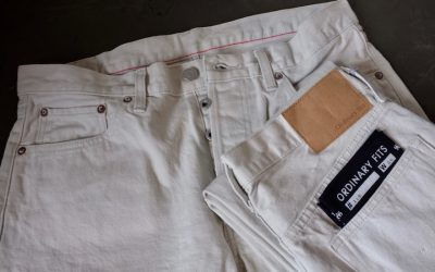 ORDINARY FITS   5PKT ANKLE DENIM・White