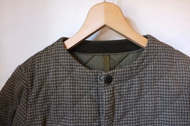 Barbour   NO COLLAR LIDDESDALE WOOL CHECK COAT