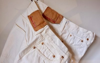 "RESOLUTE   10th Anniversary White Jeans ""710・712"""