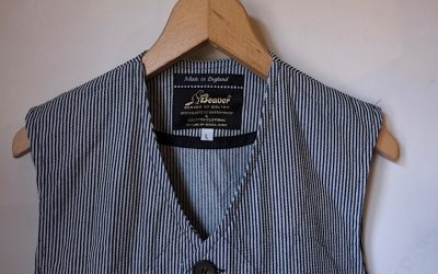 BEAVER of BOLTON   Hickory Stripe Vest