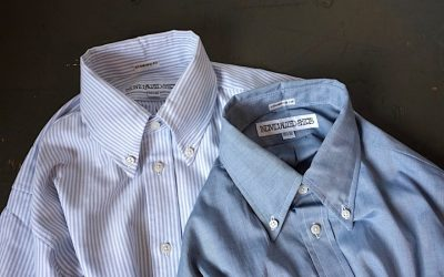 INDIVIDUALIZED SHIRTS   Candy Stripe & Chambray Standard Fit Button Down