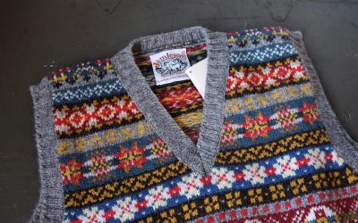 JAMIESON'S   FAIRISLE V-NECK SLIP OVER