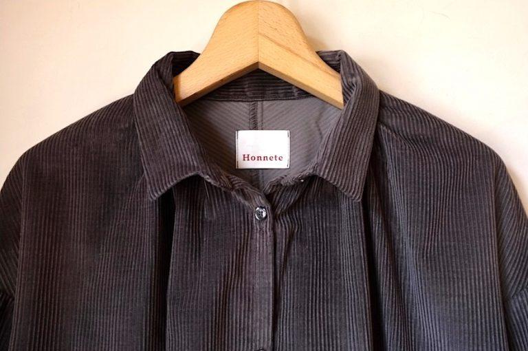Honnete   Long SLV Gather Shirts