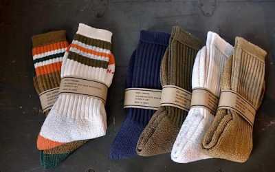 Nigel Cabourn   PILE SOCKS & PILE BORDER SOCKS