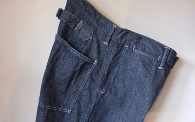 A VONTADE   Buckle back PW Denim Trousers